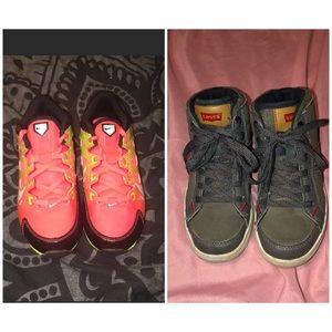 Levi high tops & Nike cleats boy size 1